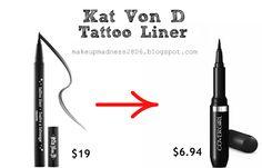 Makeup Madness: Kat Von D Dupes!