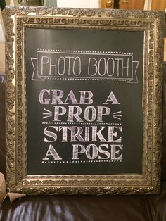 Home made photo booth sign