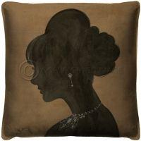 Vintage Lady Silhouette 4 Pillow