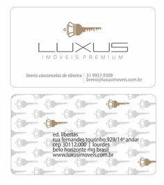 logomarca/cartões de visita LUXUS IMÓVEIS por katianey #luxusimoveis #designkatianey #design