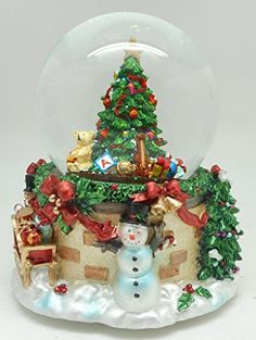 Lightahead RESIN CHRISTMAS TREE musical water ball Table Top Decoration