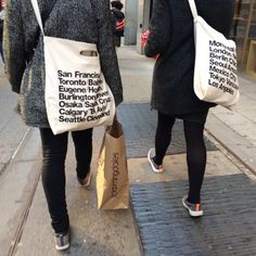 Spotted the Bull Denim Woven Cotton Cities Bag in NYC! #AmericanApparel