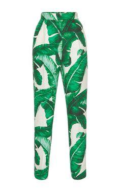 Dolce&Gabbana Palm Leaf Printed Trousers
