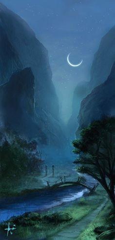 Moonlit Valley of The Fairys by Oli-Pop