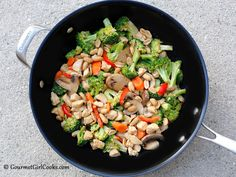 Gourmet Girl Cooks: Kung Pao Style Chicken & Veggie Stir-Fry - Low Carb, Fresh & Delicious
