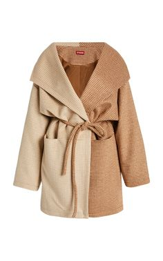Buy Staud Women's Brown Chiba Two-toned Wool Coat. Similar products also available. Knitted Coat, Wool Coat, Astrakhan Coat, Sherlock Coat, Blue Trench Coat, Suede Coat, Chiba, Double Breasted Coat, Houndstooth