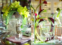 navy blue & purple tablescapes | for some expert advice on tablescape design Wedding flowers being one