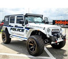 Jeep Police Patrol, Police Cars, Jeep Cars, Jeep Truck, Jeep Wrangler Unlimited, Fort Lauderdale, Rescue Vehicles, Police Vehicles, Radios
