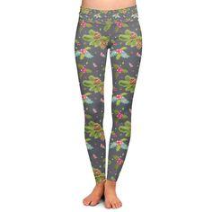66449266da4c1f Christmas Holly Yoga Leggings Low Rise Full Length XS-3XL #leggings  #collection #woman #women #clothing
