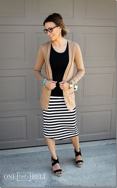 camel, black and white stripes, wedges