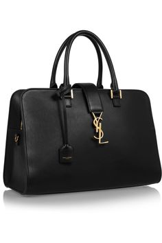 SAINT LAURENT Monogramme Cabas leather tote €1,950.00 http://www.net-a-porter.com/products/458037