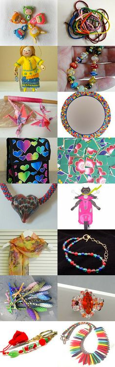 The Colors Of Happy !  Thank You My Dear Friends !! by Linda on Etsy--Pinned with TreasuryPin.com #statteam