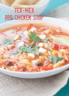 Tex Mex BBQ Chicken Soup
