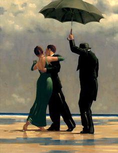 Dancer in Emerald by Jack Vittriano