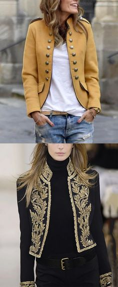 Hot Sale Long Sleeve Fall Jackets For Female Women fashion for work casual Mode Outfits, Fall Outfits, Casual Outfits, Fashion Outfits, Dinner Outfits, Fashion Belts, Fashion Sale, Fashion 2018, Fashion Fashion