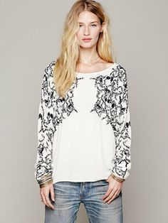 Free People Embroidered Sleeve Top, $149.95