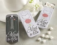 "Mint to Be Bride and Groom Slide Mint Tins with Heart Mints.  These are too cute Im getting these for my reception."" data-componentType=""MODAL_PIN"