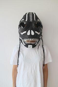 Shin Murayama, Evil Spirit, 2014 sneakers, pull-tabs, football face-guard