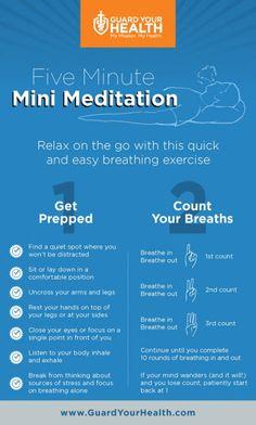 Five Minute Mini Meditation [Infographic]