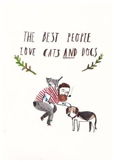 Cats and Dogs by DickVincent on Etsy