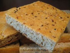 Gluten-free, grain-free foccacia bread sprinkled with Crust blend Protein Bread, Low Carb Bread, Keto Bread, Whey Protein, Low Carb Keto, Low Carb Recipes, Bread Recipes, Cooking Recipes, Diet Recipes