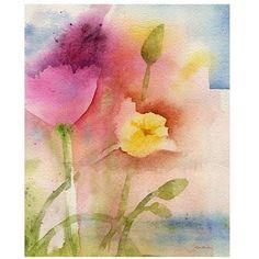 Trademark Art Pond Flowers Canvas Art by Sheila Golden, Size: 35 x 47, Multicolor