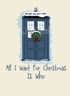 Doctor Who Tardis Christmas Card by sweetgeek on Etsy