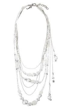 Fabiana Filippi Glass Bead Multistrand Necklace