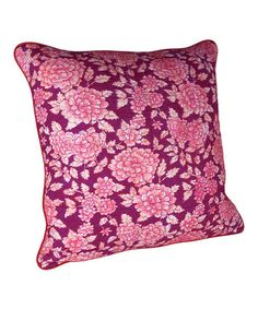 Purple Hand Felted Floral Cushion by Karma Living