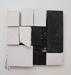 Nan Swid, White + Black 2013, Encaustic on mixed media