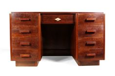 Art Deco Desk in Rosewood French c1920