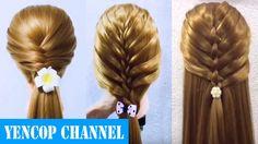 5 Cute & Easy Hairstyles for short/medium/long Hair Part 2   How to Hairstyle Tutorial  Yencop