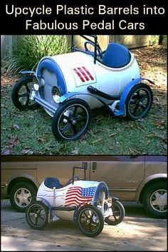 What's great about this soap box derby is that you can create one entirely out of used parts and materials.