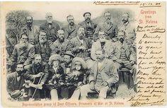 1902 Boere Offisiere in Deadwood Kamp, St.Helena. (krediet aan www.Boerevryheid.co.za) Armed Conflict, St Helena, Le Far West, Armies, African History, Military History, Old Pictures, Victorian Era, Warfare