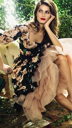 Dolce & Gabbana, Glamour, Brazil. dramatic romantic ethereal clothing, romantic natural face