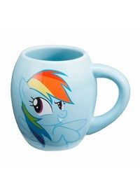 My Little Polny Rainbow Dash Oval Mug