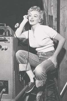 "Marilyn Monroe on the set of ""Clash by Night"", 1952."