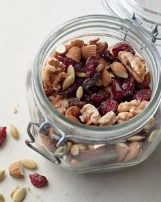 Cranberry-Pumpkin Seed Trail Mix, Wholeliving.com  #snacks