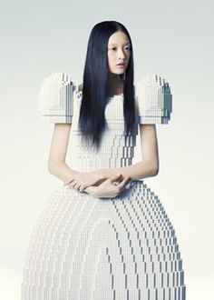 Dress made entirely of LEGO