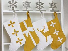 modern christmas stockings - Google Search