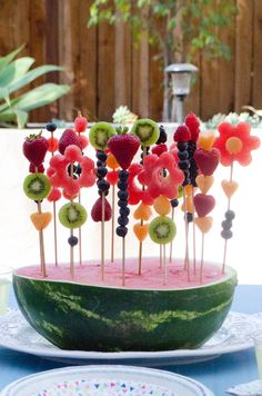 party Garden Party Menu from ChefSarahElizabet. -garten party Garden Party Menu from ChefSarahElizabet. - Here's necessary kitchenware to create fun-shaped fruit and vegetables. 👩🍳Just 2 steps - push and pop🍉🥝 Festa Fadas Snacks Für Party, Party Drinks, Party Desserts, Party Recipes, Kids Party Menu, Party Food Menu, Gourmet Desserts, Picnic Recipes, Baking Desserts