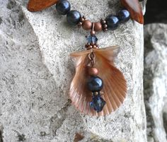 Jewelry Made Of Seashells | Del's Shells: Seashell Bracelet and Earrings Set with Freshwater ...