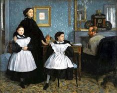 The Bellelli Family, also known as Family Portrait, is an oil painting on canvas by Edgar Degas, painted ca. and housed in the Musée d'Orsay. Edgar Degas, Most Famous Paintings, Famous Artists, Degas Paintings, Portrait Paintings, Art Ancien, Chef D Oeuvre, Oil Painting Reproductions, French Artists