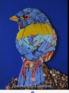 Bird done in metallic mosaic art Mosaic Tile Art, Mosaic Artwork, Mirror Mosaic, Mosaic Crafts, Mosaic Projects, Mosaic Glass, Art Projects, Mosaic Animals, Mosaic Birds