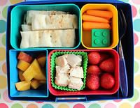 Big Kid Laptop Lunch with nectarines