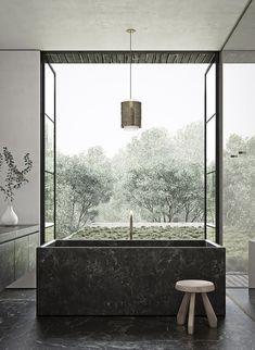 bath . minimalism . inspiration by LEUCHTEND GRAU www.leuchtend-grau.de +++ Adam Jordan Architecture | Residence in Memphis, Tennessee #luxurybathrooms