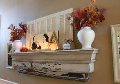 love this mantle to use as a shelf
