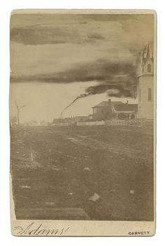 Meteorologists today consider amateur photographer, A.A. Adams photograph to be the first of a tornado. The image was taken April 26, 1884 in Garnett, Anderson County, Kansas.