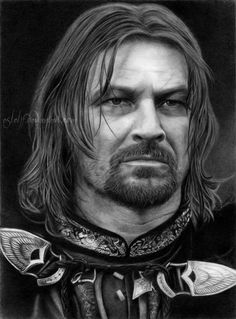 Amazing drawing of Boromir. Does this look like a drawing? Nope.