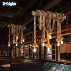 Barato Corda Vintage pingente luzes lâmpada Loft de personalidade criativa…